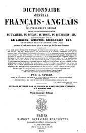 Dictionnaire général anglais-français: Volume 1