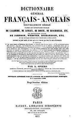 Dictionnaire g  n  ral anglais fran  ais PDF