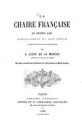 La chaire française au moyen âge: spécialement au XIIIe siècle, d'après les manuscrits contemporains