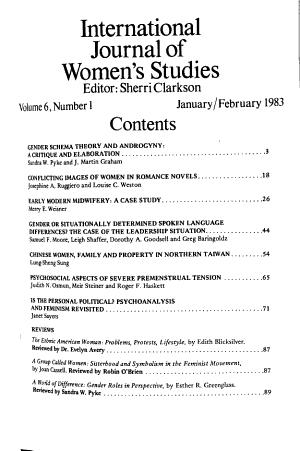International Journal of Women s Studies
