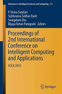 Proceedings of 2nd International Conference on Intelligent Computing and Applications PDF