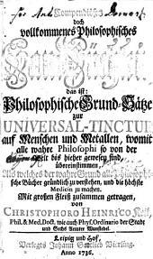 Compendiöses doch vollkommenes Philosophisches Handbüchlein ...