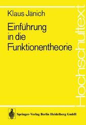 Einführung in die Funktionentheorie