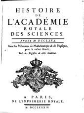Histoire de l'Académie Royale des Sciences: avec les mémoires de mathématique et de physique pour la même année : tirés des registres de cette Académie. 1780 (1784)