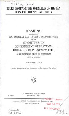 Issues Involving the Operation of the San Francisco Housing Authority PDF