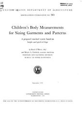 Children's Body Measurements for Sizing Garments and Patterns: A Proposed Standard System Based on Height and Girth of Hips