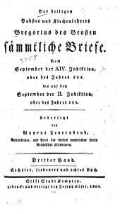 Des heiligen Pabstes und Kirchenlehrers Gregorius des Grossen sämmtliche Briefe: Band 3
