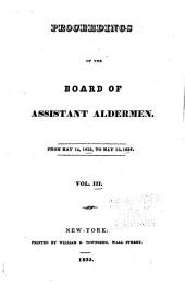 Proceedings of the Board of Assistant Aldermen: Volume 3