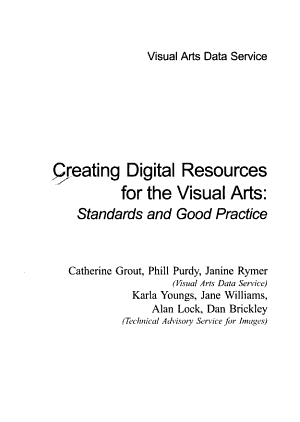 Creating Digital Resources for the Visual Arts
