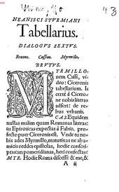 Ex neaniscis Sturmianis tabellarius, dialogus sextus