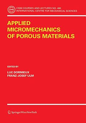 Applied Micromechanics of Porous Materials PDF