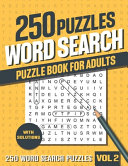 250 Word Search Puzzle Book for Adults PDF