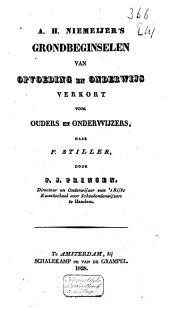 A. H. Niemeijer's Grondbeginselen van opvoeding en onderwijs