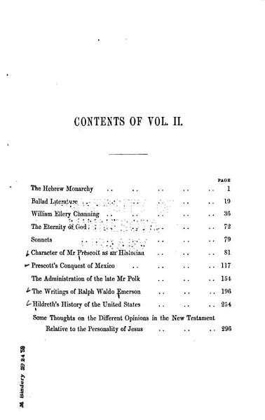 The Collected Works of Theodore Parker  Critical writings PDF