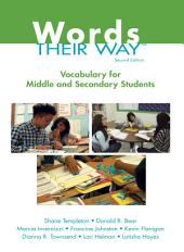 Words Their Way: Vocabulary for Middle and Secondary Students, Edition 2