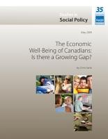 The Economic Well Being of Canadians  Is there a Growing Gap  PDF