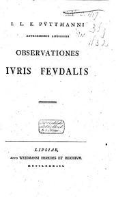 Observationes juris feudalis