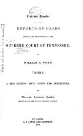Reports of Cases Argued and Determined in the Supreme Court of Tennessee: Volume 31