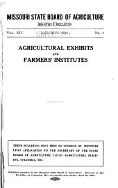 Agricultural Exhibits and Farmers' Institutes: Volume 14