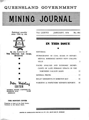 Queensland Government Mining Journal