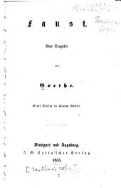 Faust: eine Tragödie, Band 1