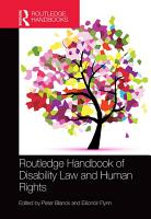 Routledge Handbook of Disability Law and Human Rights PDF