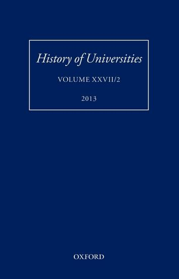 History of Universities PDF