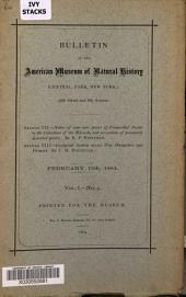 Bulletin of the American Museum of Natural History: Volume 1, Issue 5