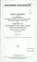 Stratospheric ozone depletion PDF