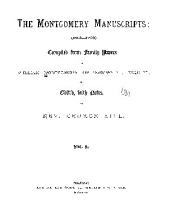 The Montgomery Manuscripts: (1603-1706)