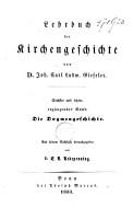 Lehrbuch der Kirchengeschichte PDF