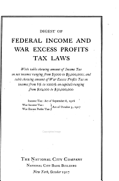 Digest of the war taxes of 1917