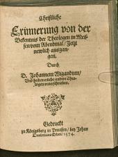 Christliche Erinnerung von der Bekentnis der Theologen in Meissen vom Abendmal