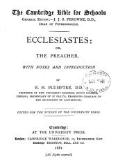Ecclesiastes: Or, The Preacher