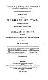 Sketches of the Horrors of War, Chiefly Selected from Labaume's Narrative of the Campaign in Russia, in 1812