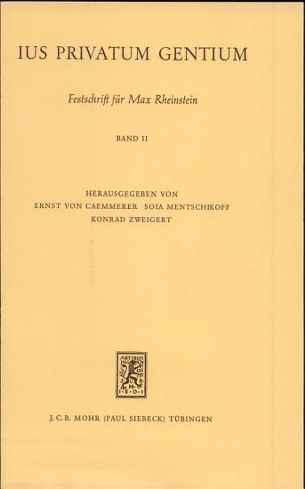 Ius Privatum Gentium PDF