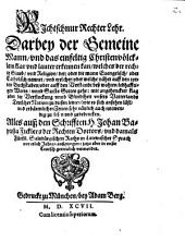 Richtschnur rechter Lehr: Darbey der gemeine Mann ... klar und lauter erkennen kann, welches d. recht. Glaub und Religion der, oder die mann Evangel. od. Luther. nennt
