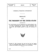 Chemical Weapons Convention: Message From The President Of The U.s.