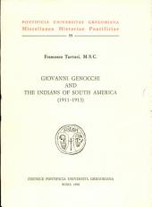 Giovanni Genocchi and the Indians of South America, 1911-1913