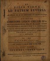 De filia vidua ad patrem reversa ad legem XII d. de adoption. et emancipation