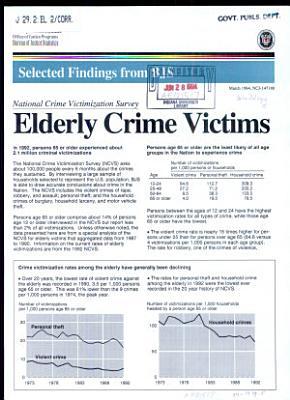 Elderly Crime Victims PDF