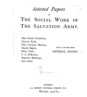 Selected Papers on the Social Work of the Salvation Army