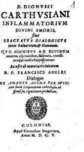 Inflammatorium Divini Amoris, sive Tractatus Dialogicus inter Salvatorem & Hominem