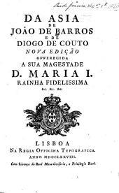 Da Asia de João de Barros e de Diogo de Couto: Volume 1