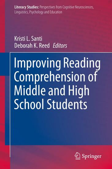 Improving Reading Comprehension of Middle and High School Students PDF