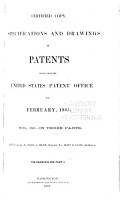 Specifications and Drawings of Patents Issued from the United States Patent Office for     PDF
