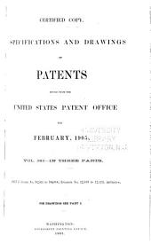 Specifications and Drawings of Patents Issued from the United States Patent Office for ...: Part 2