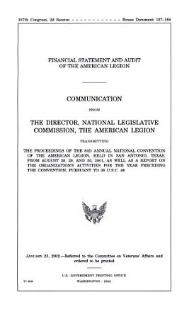 Financial Statement and Audit of the American Legion PDF