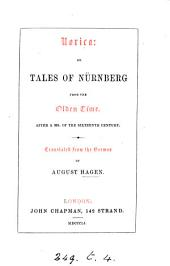 Norica; or, Tales of Nürnberg from the olden time. Transl