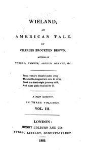Wieland, an American Tale ...